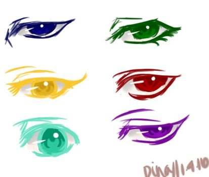 Generation of Miracles + Kuroko Eyes by MoonLightSadness10