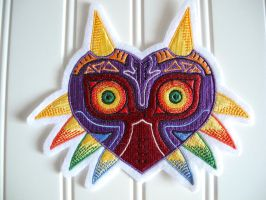zelda majora's mask embroidered patch by omielou