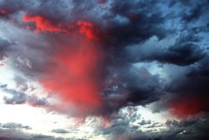 Red and Blue Sky by KalvinK