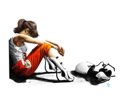 Chell from Portal by Daveastation