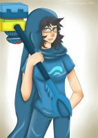 John Egbert (female version) by SatiricalKat
