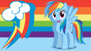 Rainbow Dash Wallpaper by PrincessMedley13