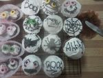 spooky cup cakes by KendaKitty