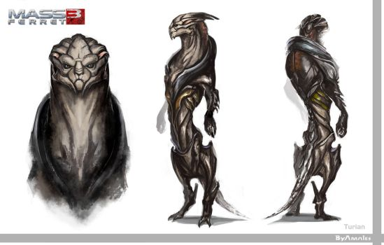 Turian concept by Amales