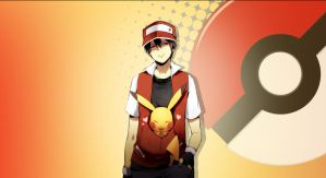 POKEMON MASTER RED WALLPAPER by Sartorelli