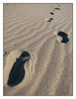 Footprints in the Sand by SurfGuy3