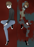 Ticci Toby Mirror _-Then and Now-_ by SlyfoxXimmortal