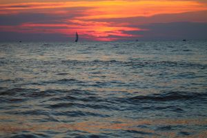 Grand Haven State Park Sunset by jessijoke