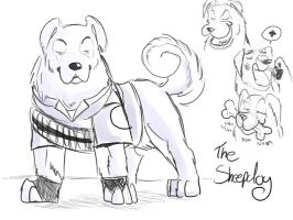 TF2 Dogs: The SheepDog by AnimeAntie