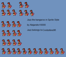 Jazz the kangaroo sprite style by Alejandro10000