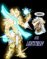 Axel : Lightstream Knight by PlatinumScarab