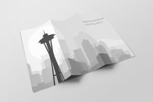 Shadowrun - Seattle Skyline by fexes