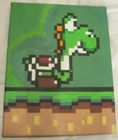 Super Mario World - Yoshi by 8bitgallery