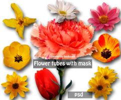 psd flower tubes with mask 9 by feniksas4