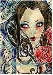 ACEO :: Song For A Silent Rose by Fanhir