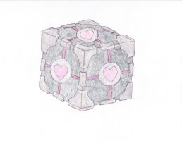 companion cube colored by Jewel18656