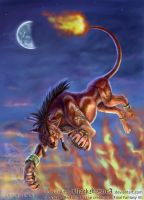 Red XIII of Final Fantasy by BlackMysticA