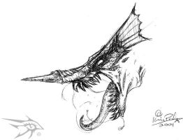 Sketch Series - Dragon 4 by darthhorus