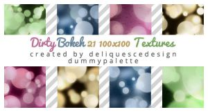 Dirty Bokeh: 21 Icon Textures by deliquescedesign