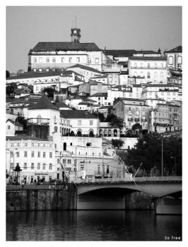 Old postcard of Coimbra by sofree