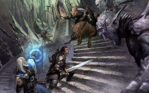 Gnoll Fight at the Evil Gate by velinov