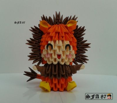 Lion Kid Origami 3d by Sfa87