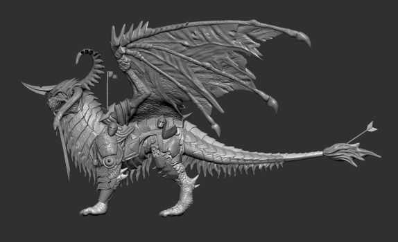 Draconis-4th form-FINAL FINAL by DigiDemonsculpture
