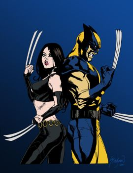 Wolverine and X-23 by edCOM02