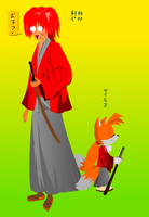Tails the Hitokiri Battousai by GaussianCat
