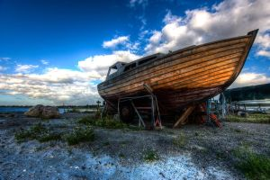 Holvikken Boat HDR by MisterDedication