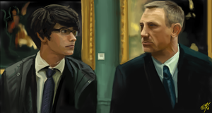 Skyfall - Q and James Bond by DreamyArtistRoxy3
