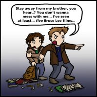 Teen Dean protects Sammy by blackbirdrose
