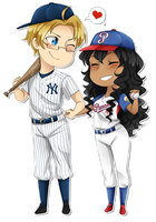 .:APH:. A Batter And His Pitcher by kamillyanna