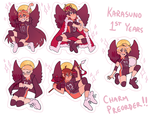 karasuno first years charms by naydeity