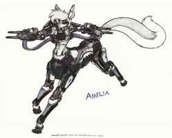 Amelia, Guns drawn by WMDiscovery93
