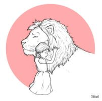 Aslan and Lucy by stkidd