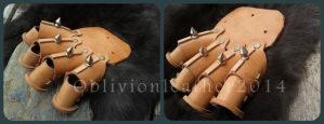 Hand armour -  in progress by Oblivionleather76