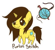 My Little Pony OC Purlin Stitch by LightbulbsDesign