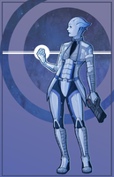 ME: Liara T'Soni by Weissidian