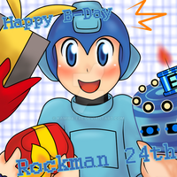 Happy B-Day Rockman 24th by Kamira-Exe