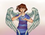 Angel Frisk - colour by A-wing-and-a-flair