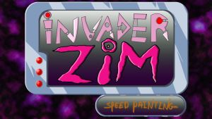 Invader zim speed painting thumbnail/title card by IDROIDMONKEY