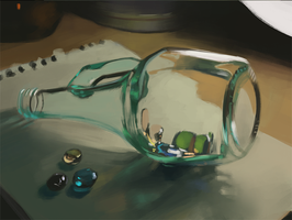Glass Still life by Raedrob