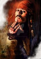 jack sparrow digital painting by ls2-TheBloodOfPeace