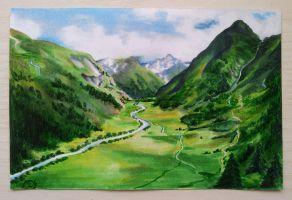 Valley in Austria by MikeTrawilson