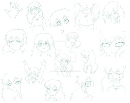 Ambertwo Expressions Sheet by Pillow-chan