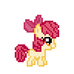 8-bit Applebloom Sprite by ladypixelheart
