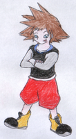 Sora in casual clothes by Gaiash