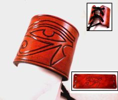Eye of Ra Leather Cuff by Skinz-N-Hydez