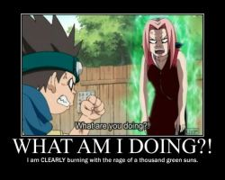 Naruto Motivational Poster: Rage Burning by WithinTheCosmos